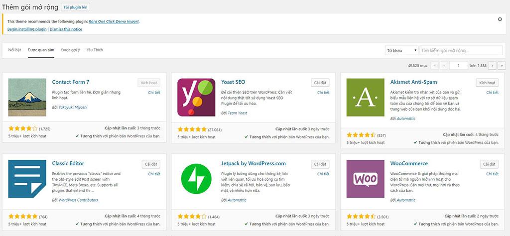 Tìm hiểu và cài đặt plugin wordpress