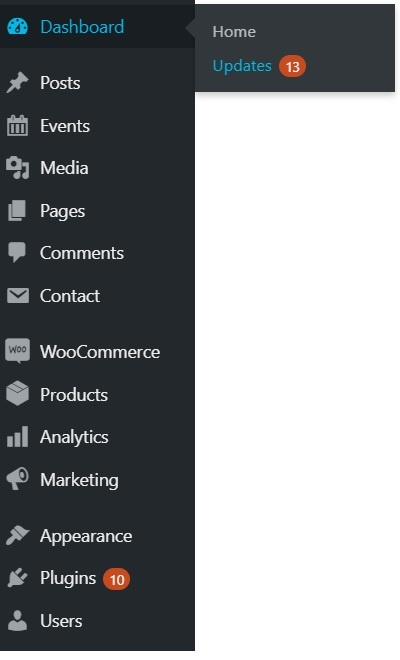 update bao mat wordpress