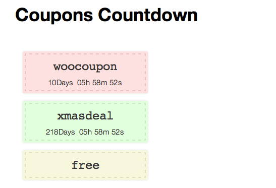 Plugin tạo Coupon giảm giá countdown