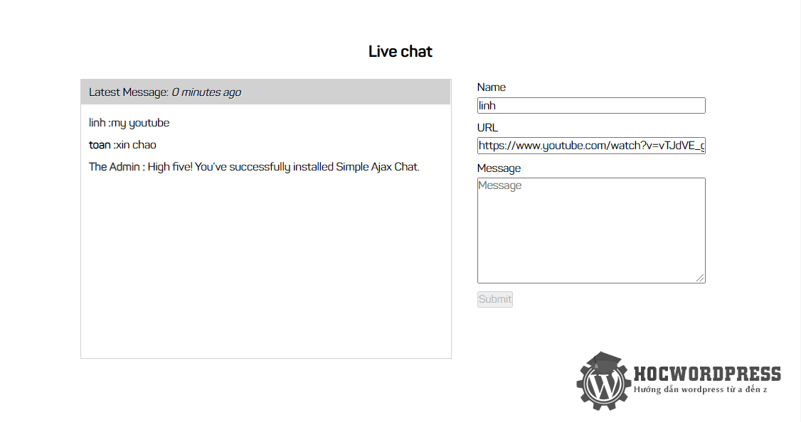 chat room wordpress