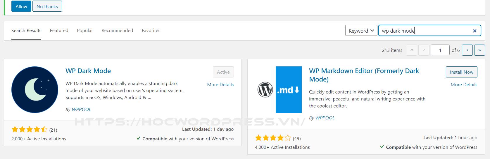 Dark mode cho website