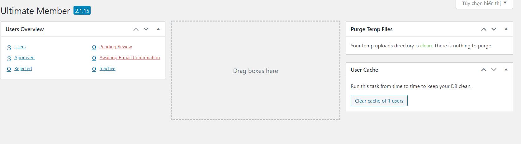 plugin Ultimate Member dardboard